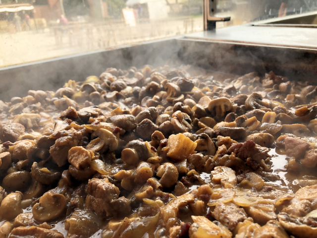 4203 Champignon-Zwiebel-Fleischpfanne